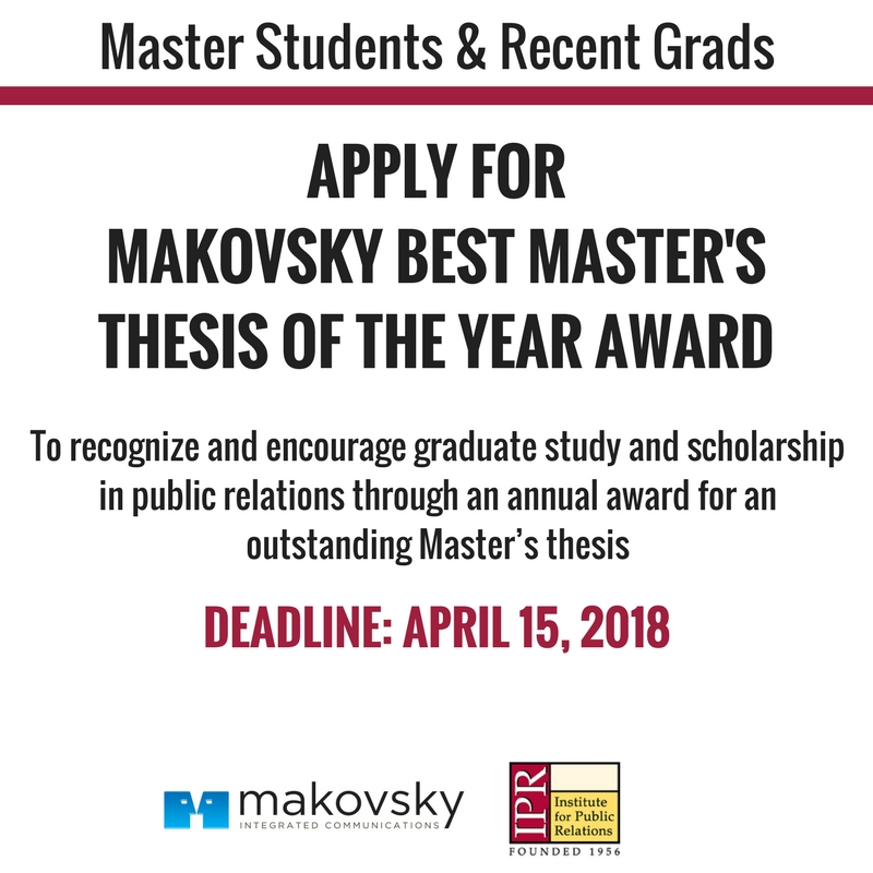scholarship master thesis proposal