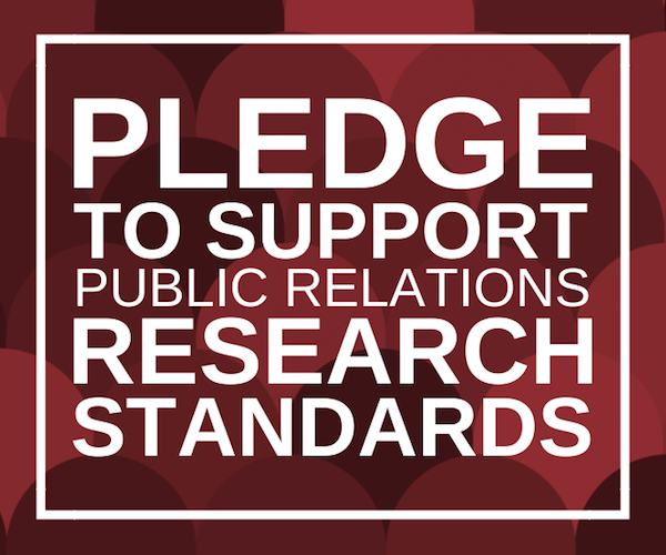 Pledge to Support Public Relations Research Standards