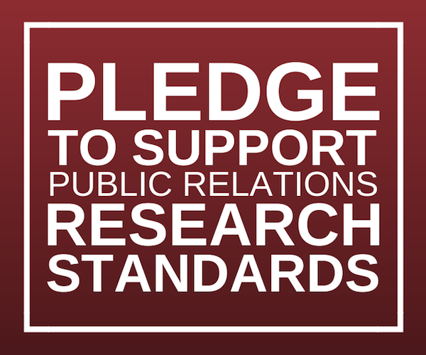 Pledge Commitment to Public Relations Research Standards